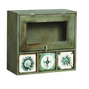 Meat Safe 3 x Drawer Green